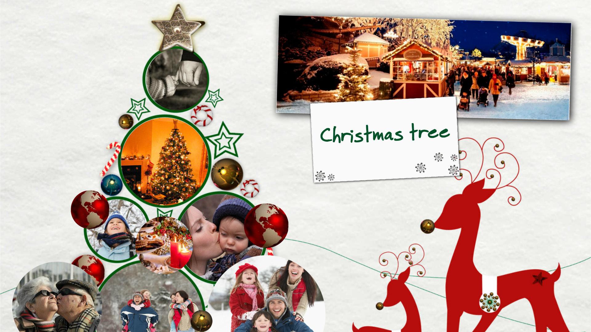 Foto Collage Di Natale.E Card Con La Foto E Collage Albero Di Natale